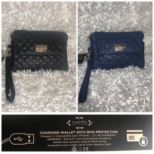 ⚡️Nanette Charging Wallet With Wristlet  (RFID)